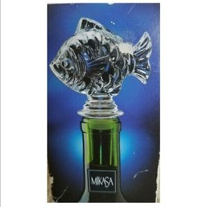 Mikasa Fish Crystal Wine Bottle Stopper
